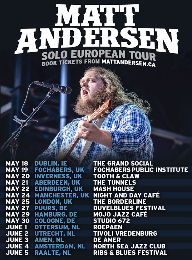 Matt Andersen Tour Dates